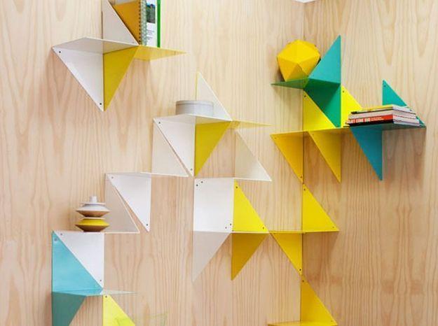 Etagères modulaires esprit origami