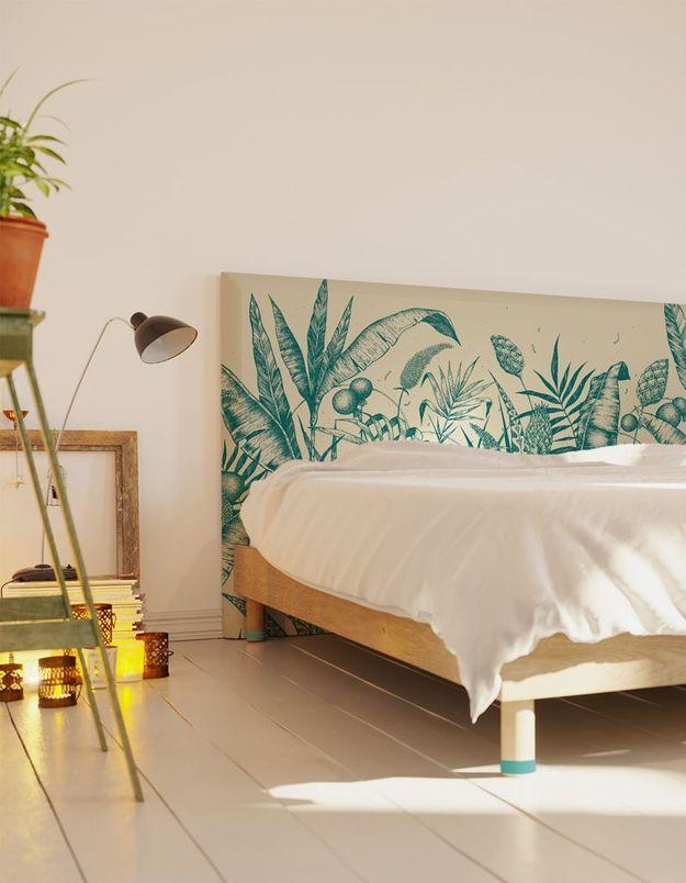 Une tête de lit tropicale