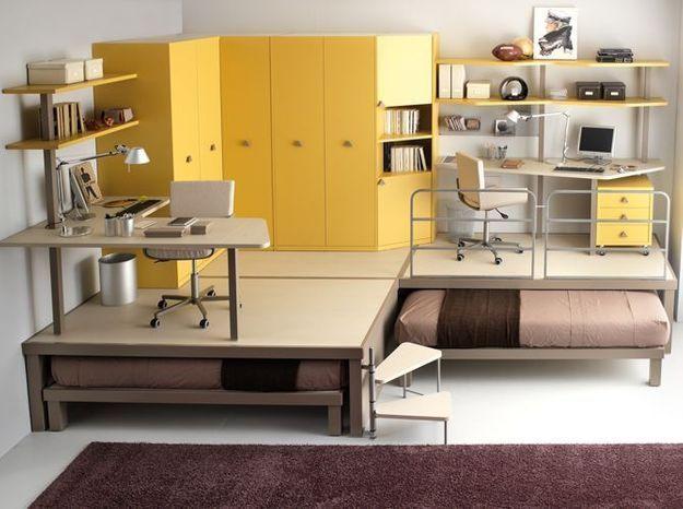 3 fa ons d am nager un espace bureau dans la chambre elle d coration. Black Bedroom Furniture Sets. Home Design Ideas