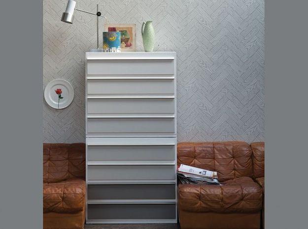 DIY : créez un joli camaïeu sur les tiroirs d'une commode