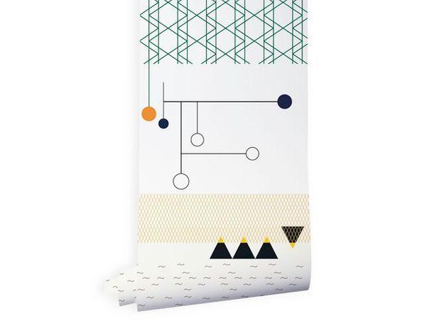 Papier peint enfant géométrique