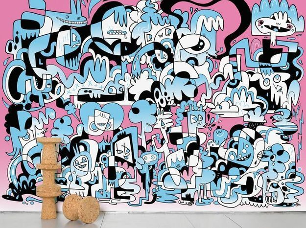 Papier peint enfant street-art