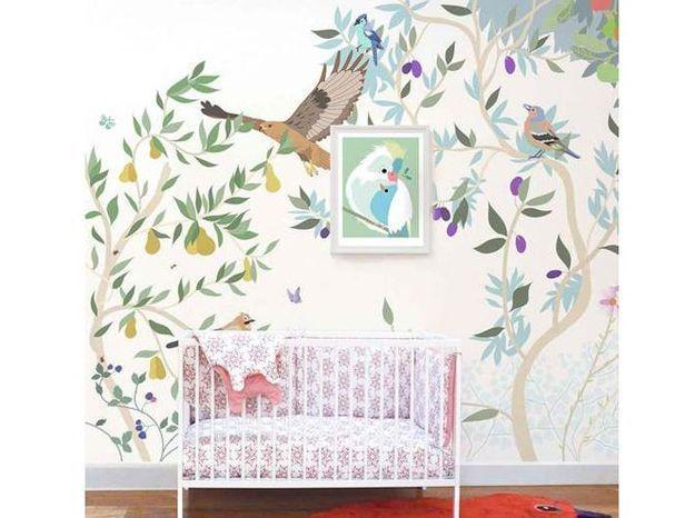Papier peint enfant végétal