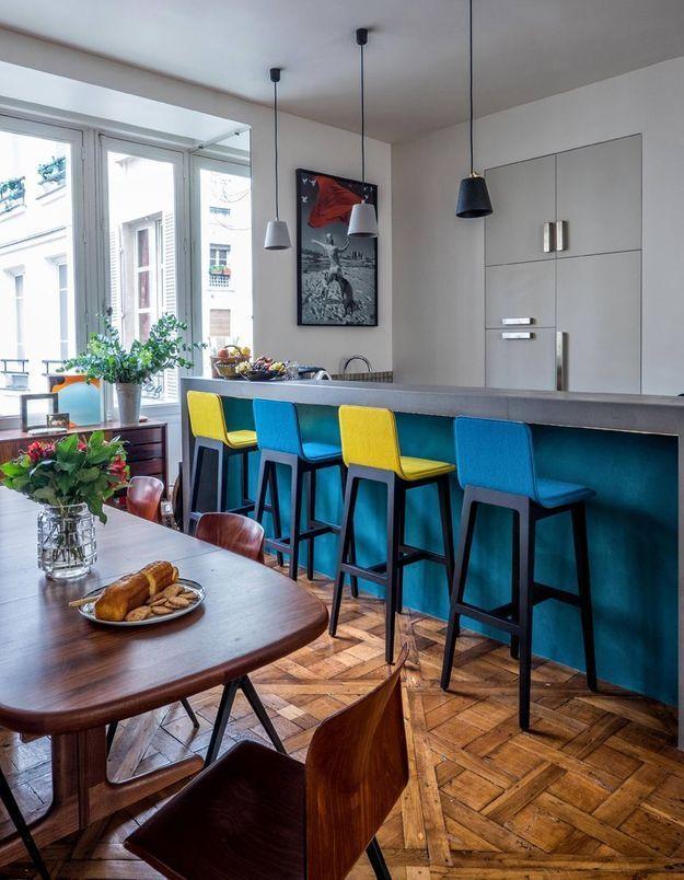 cuisine color e d couvrez toutes nos inspirations elle. Black Bedroom Furniture Sets. Home Design Ideas