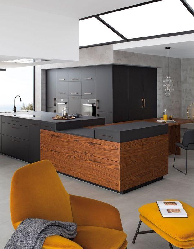 3. Une cuisine bois et noir