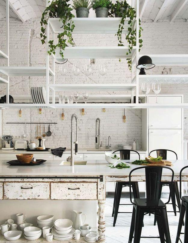 Une belle cuisine au total look blanc