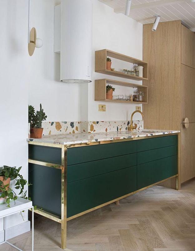 Une belle cuisine qui modernise le terrazzo