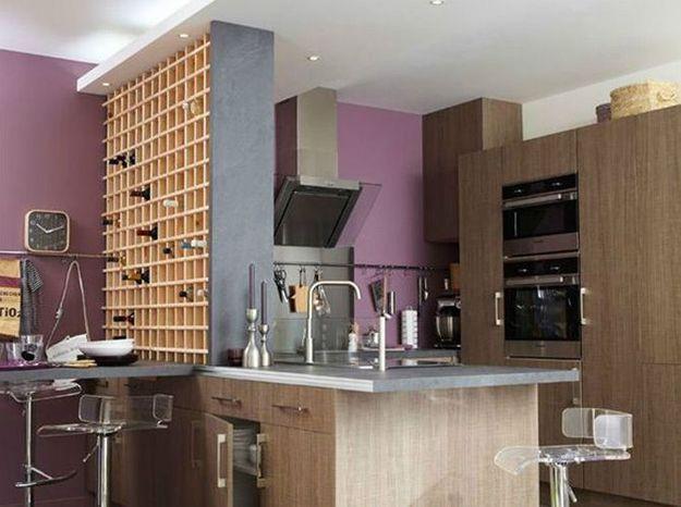 Craquez pour une cuisine originale elle d coration - Cuisine avec cave a vin ...