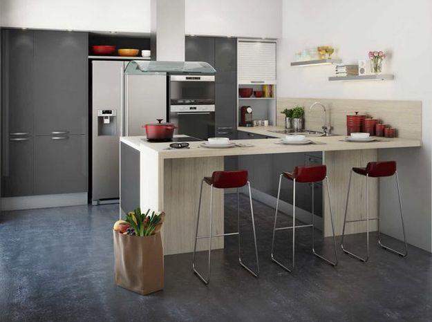 Les 4 règles d\'or d\'une cuisine ouverte - Elle Décoration