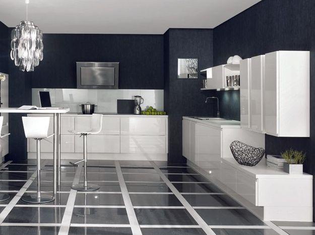 Une cuisine design au total look blanc