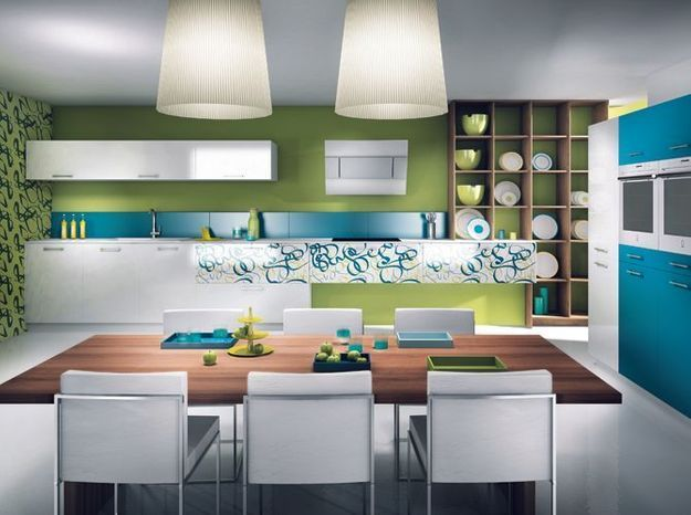 Une cuisine design avec des motifs
