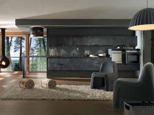 Une cuisine design en céramique