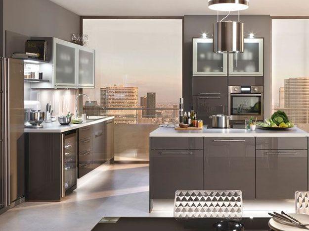 Une cuisine design très lumineuse
