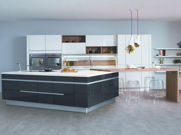 Une cuisine design ultra géométrique