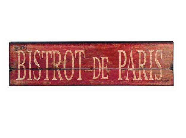 Plaque decorative rouge bistrot maisons du monde