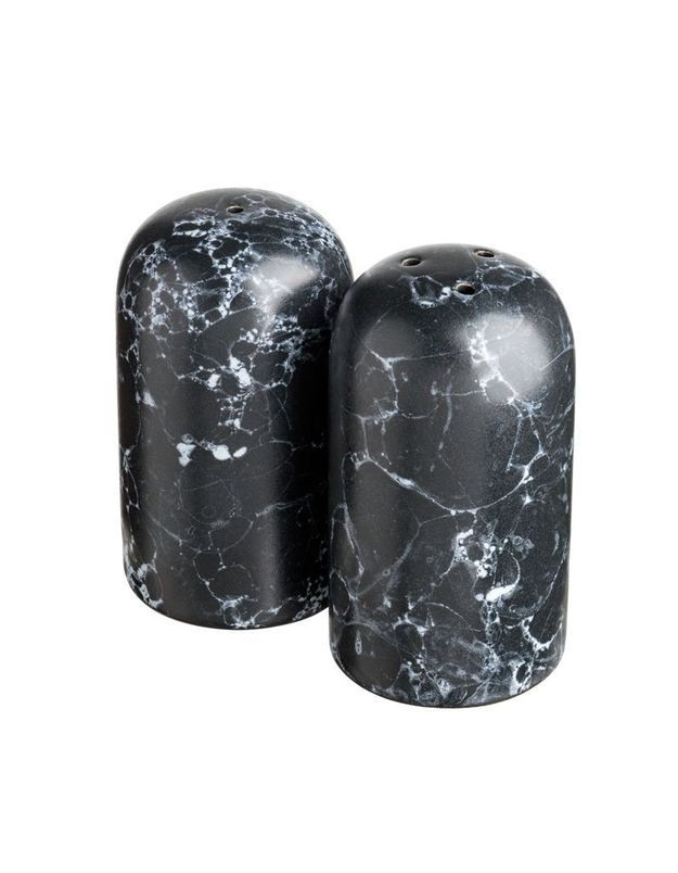 Salière et poivrière effet marbre