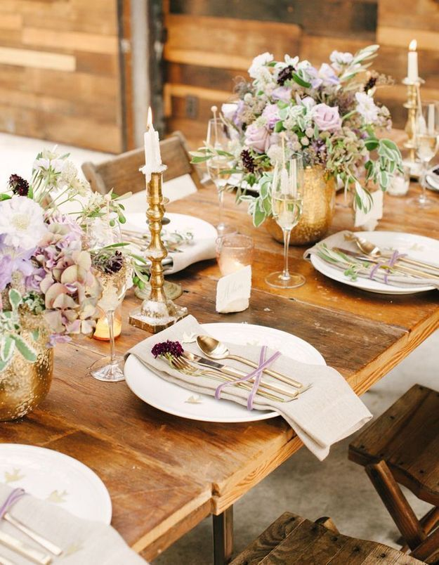 10 inspirations d co pour une table de r veillon sur son - Deco table reveillon ...