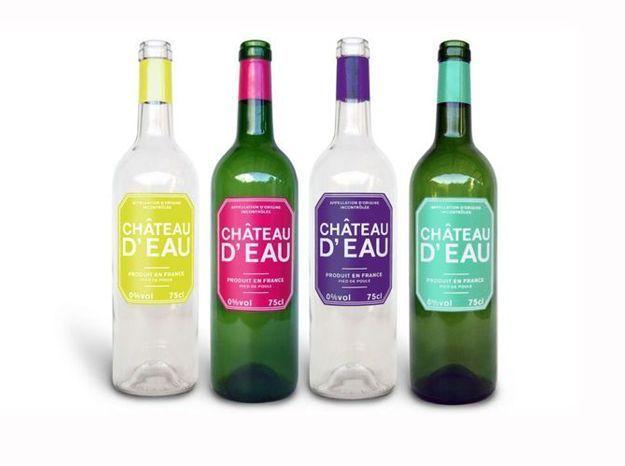 Des carafes en forme de bouteille de vin