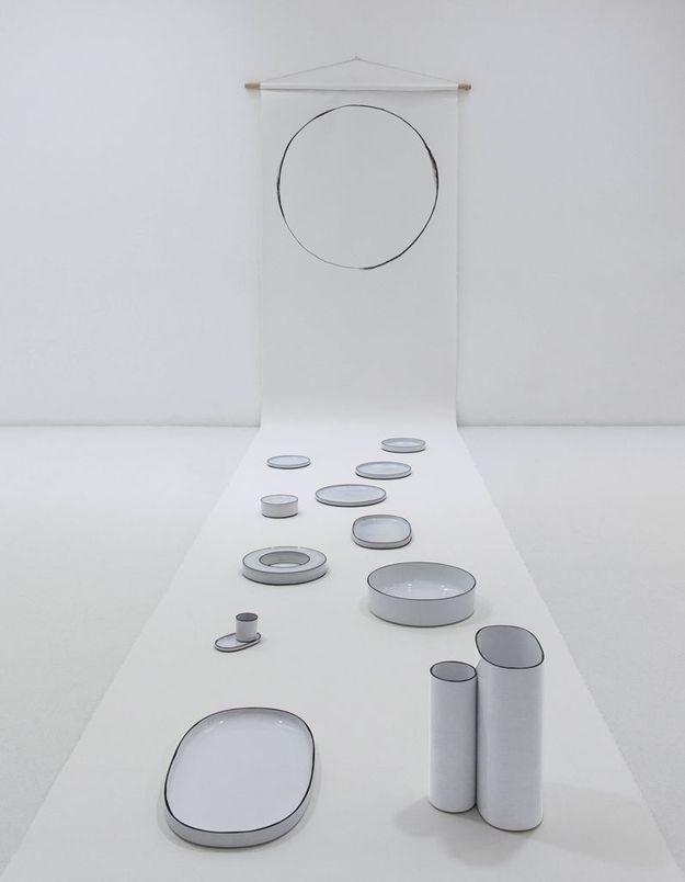 """Collection """"Caractère"""" en version blanche, de Noé Duchaufour Lawrance pour Revol"""
