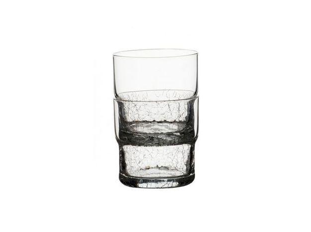Verre à eau effet craquelé
