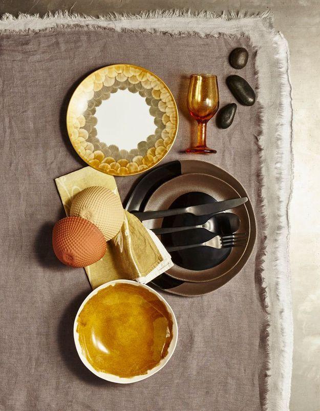 Déco de table : fondez pour les assiettes tableaux