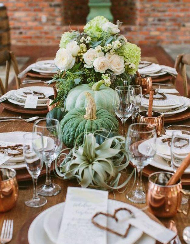 Une déco de table Halloween champêtre