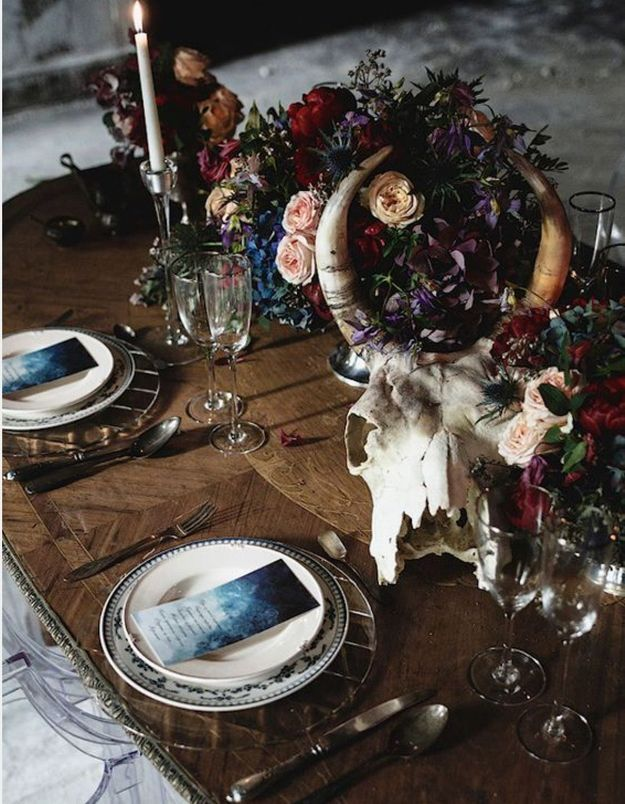 Une déco de table Halloween romantique