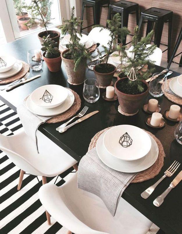 Décoration de table hiver : ornez la table de végétaux