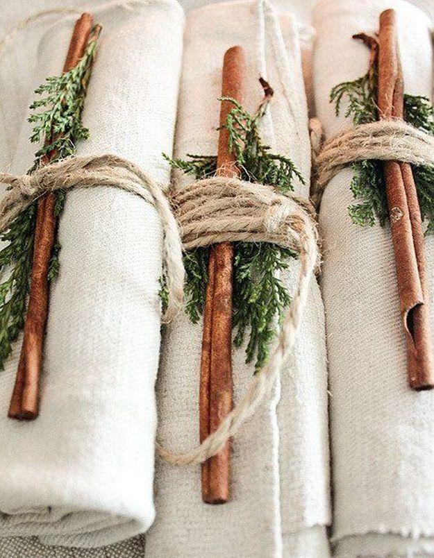 Décoration de table hiver : parfumez vos serviettes de table