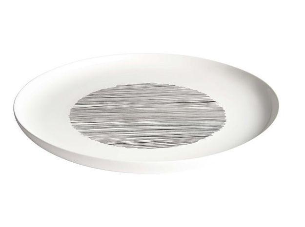 Assiette plate en porcelaine habitat