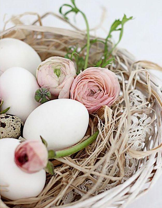 Une déco de table printanière pour Pâques