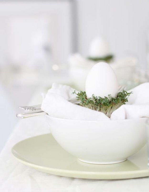 Une déco de table délicate pour Pâques