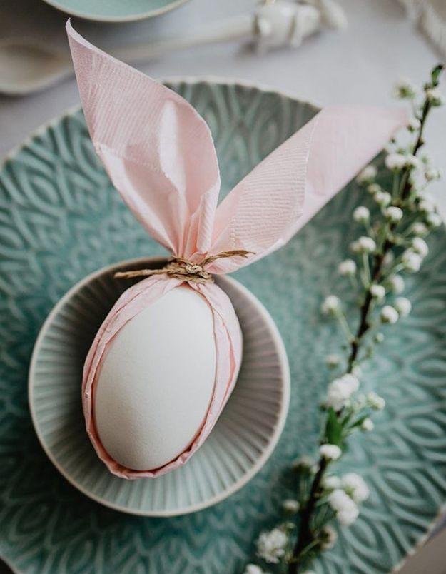 Une déco de table originale pour Pâques
