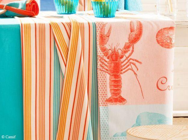 Craquez pour une belle nappe esprit bord de mer