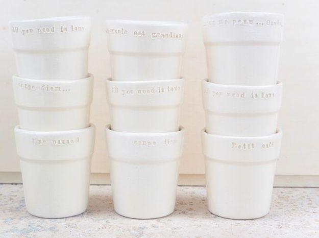 Mini gobelet ceramique