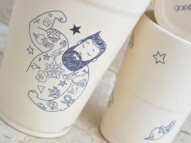 Gobelet ceramique tatouage