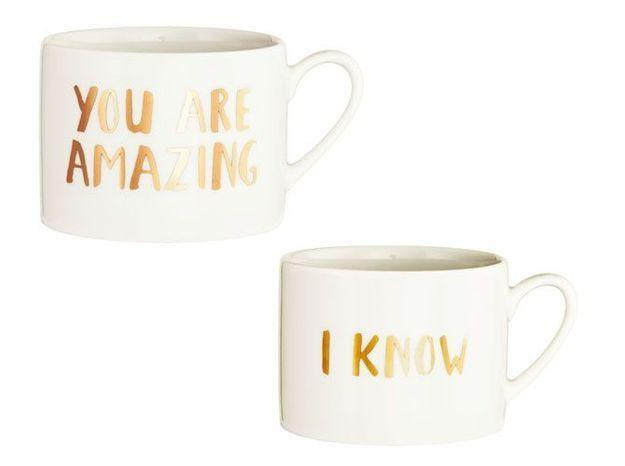 L'objet déco du jour : les tasses H&M Home