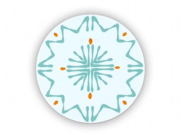 assiette motifs graphiques