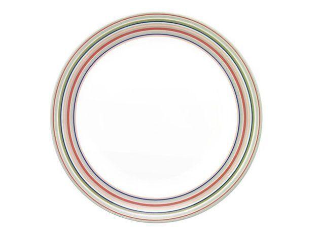 assiette rayures colorées