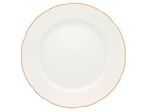 assiette bordure orange