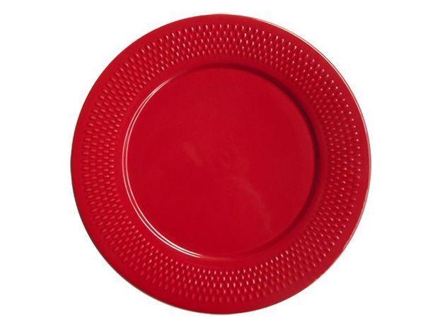 assiette rouge vif