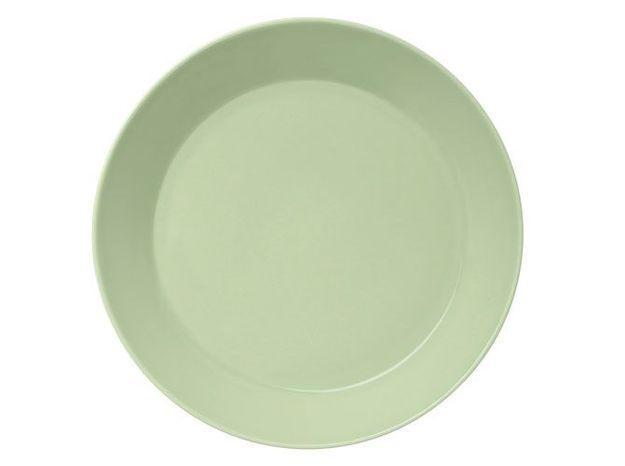 assiette vert clair