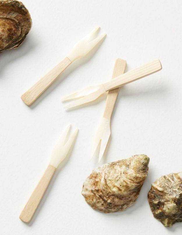 Des fourchettes en bambou Anthropologie