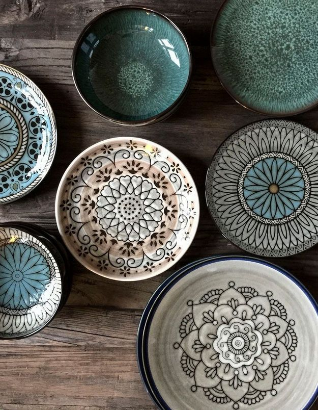 Assiette ethnique en céramique