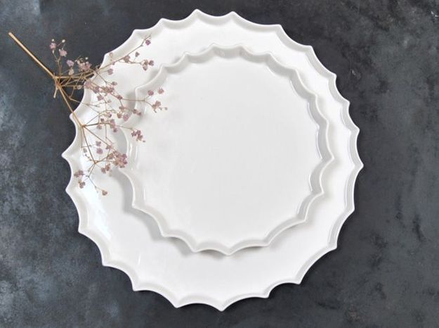 Assiettes en céramique Epure