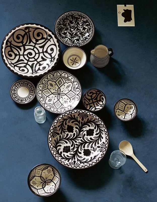Assiettes et bols de présentation en céramique Tine K Home
