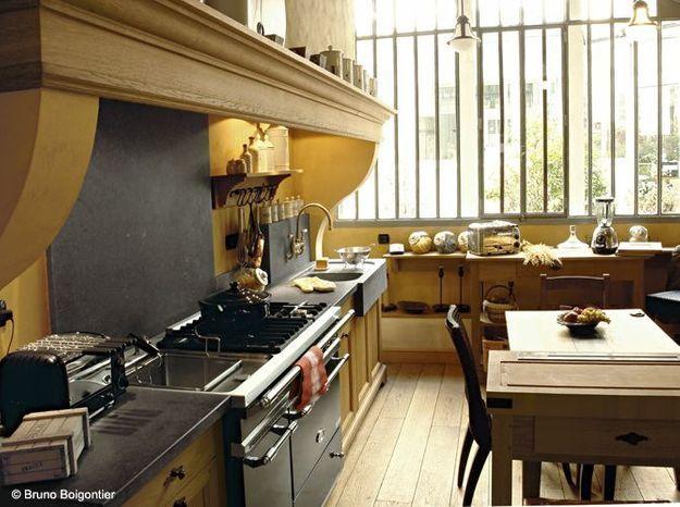 Une cuisine campagne digne d'un château