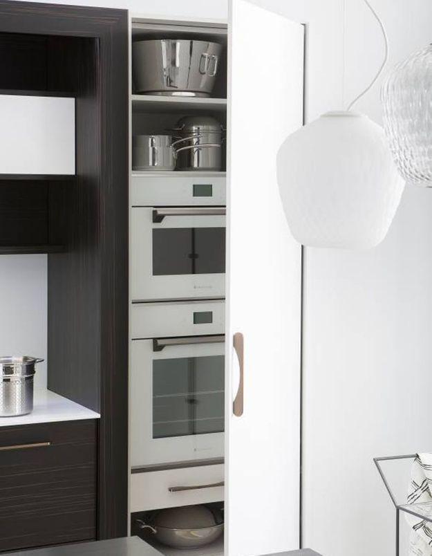 Meuble de cuisine : un placard qui cache l'électroménager