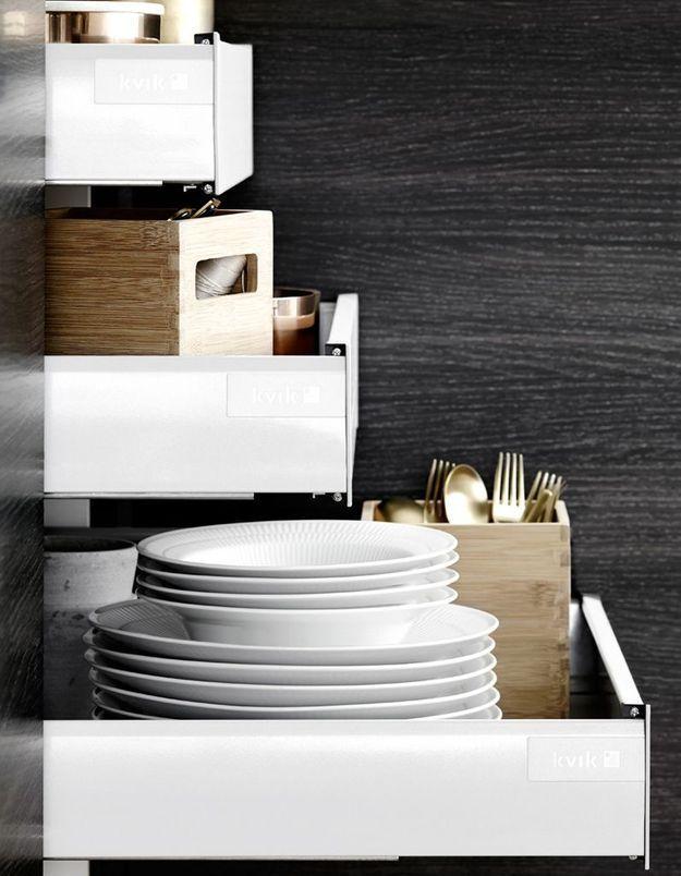 Meuble de cuisine : une colonne à tiroirs