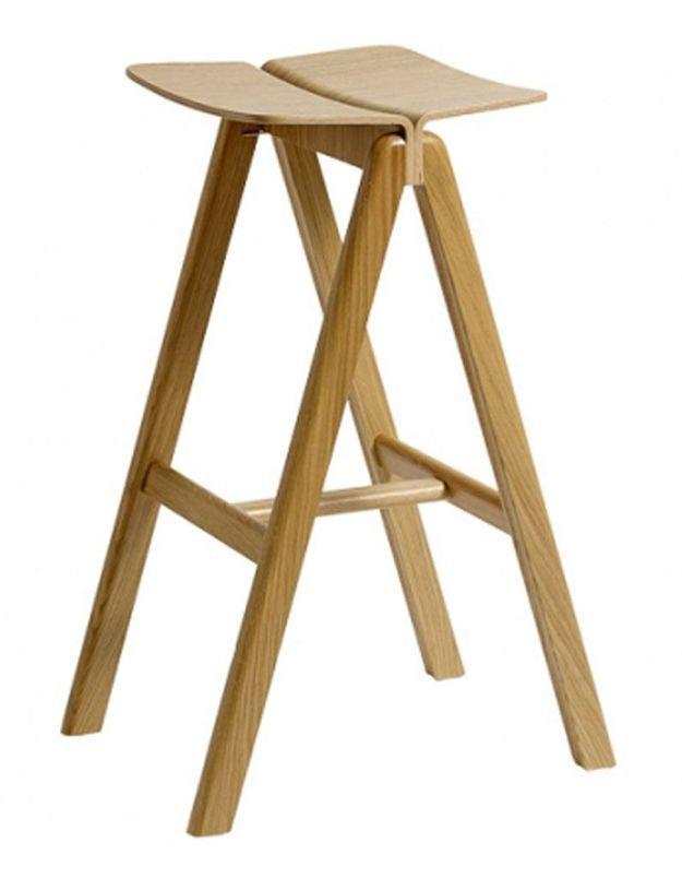 Tabouret de bar en bois clair